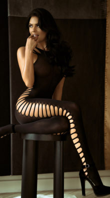 Photo of Ribbed Cut-Out Bodystocking @EX4.NL Exclusive Lingerie