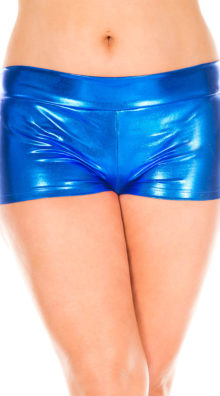 Photo of Plus Size Banded Metallic Shorts @EX4.NL Exclusive Lingerie