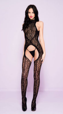 Photo of High Neck Lace Bodystocking @EX4.NL Exclusive Lingerie