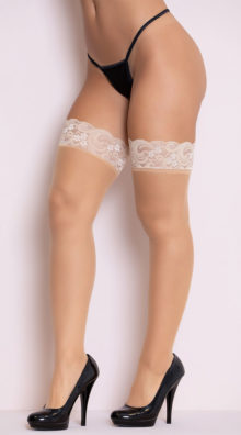 Photo of Sheer Lace Top Thigh High @EX4.NL Exclusive Lingerie