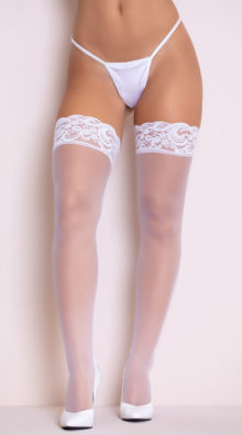 Photo of Lace Top Thigh High with Back Seam @EX4.NL Exclusive Lingerie
