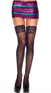 Photo of Lace Top Sheer Thigh High @EX4.NL Exclusive Lingerie
