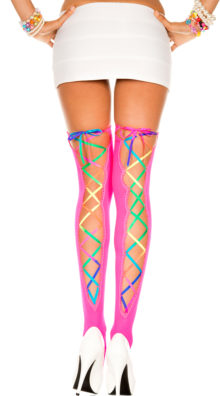 Photo of Rainbow Back Lace Stockings @EX4.NL Exclusive Lingerie