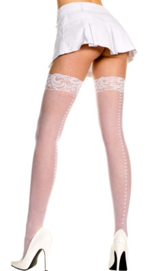 Photo of Sheer Thigh High with Heart Backseam @EX4.NL Exclusive Lingerie