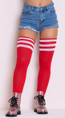 Photo of Athletic Striped Thigh Highs @EX4.NL Exclusive Lingerie