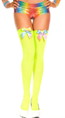 Photo of Rainbow Bow Stockings @EX4.NL Exclusive Lingerie