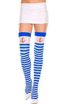 Photo of Striped Thigh High with Anchor @EX4.NL Exclusive Lingerie