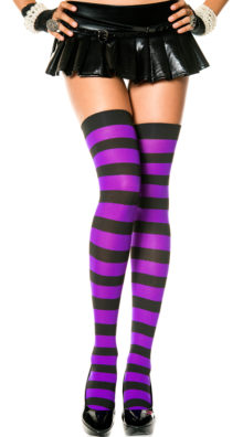 Photo of Wide Striped Thigh Highs @EX4.NL Exclusive Lingerie