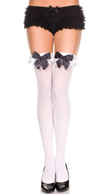 Photo of Thigh High with Satin Ruffle and Bow @EX4.NL Exclusive Lingerie