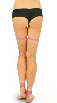 Photo of Footless Big Diamond Net Thigh Highs @EX4.NL Exclusive Lingerie