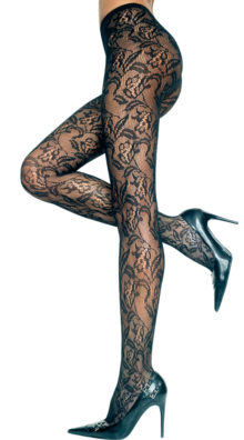 Photo of Seamless Floral Lace Pantyhose @EX4.NL Exclusive Lingerie