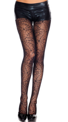 Photo of Sheer Spider Web Pantyhose @EX4.NL Exclusive Lingerie