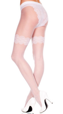 Photo of Sheer Pantyhose With Faux Panty @EX4.NL Exclusive Lingerie