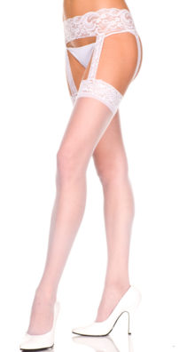 Photo of Plus Size Sheer Stocking With Garter Belt @EX4.NL Exclusive Lingerie