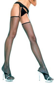 Photo of Fishnet Thigh Highs With Garterbelt @EX4.NL Exclusive Lingerie