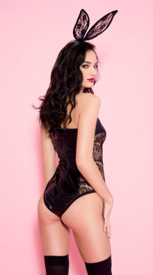 Photo of Soft and Bold Vinyl Teddy @EX4.NL Exclusive Lingerie