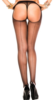 Photo of Backseam Sheer Thong Back Pantyhose @EX4.NL Exclusive Lingerie