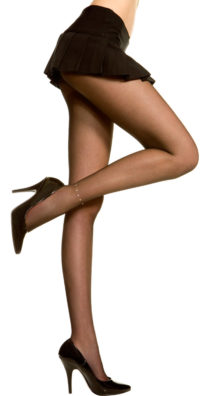 Photo of Sheer Pantyhose With Ankle Rhinestone @EX4.NL Exclusive Lingerie