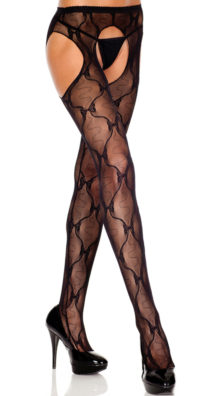 Photo of Back Bow Lace Suspender Pantyhose @EX4.NL Exclusive Lingerie