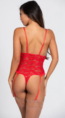 Photo of Luv Lace Open Cup Crotchless Teddy @EX4.NL Exclusive Lingerie