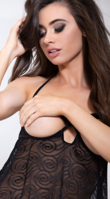 Photo of Racy Cupless and Crotchless Babydoll Set @EX4.NL Exclusive Lingerie