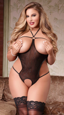 Photo of Queen Size Cupless Teddy @EX4.NL Exclusive Lingerie