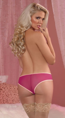 Photo of Plus Size Cranberry Crush Crotchless Panty @EX4.NL Exclusive Lingerie