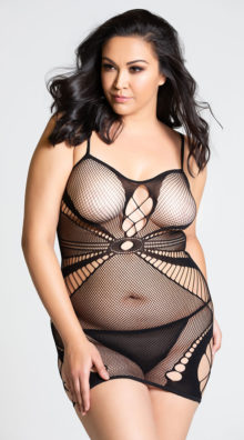 Photo of Plus Size Seamless Netted Chemise @EX4.NL Exclusive Lingerie