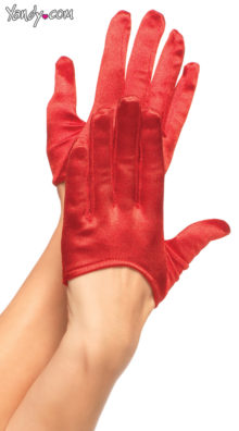 Photo of Mini Cropped Satin Gloves @EX4.NL Exclusive Lingerie