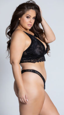 Photo of Plus Size Josilyn Lace Thong @EX4.NL Exclusive Lingerie