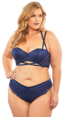 Photo of Plus Size Alina Luxe Lace Thong Panty @EX4.NL Exclusive Lingerie
