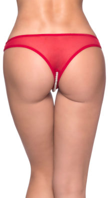 Photo of Crotchless Pearl Thong @EX4.NL Exclusive Lingerie