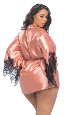 Photo of Plus Size Coco Satin and Lace Robe @EX4.NL Exclusive Lingerie