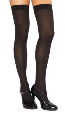 Photo of Opaque Thigh High Stockings @EX4.NL Exclusive Lingerie