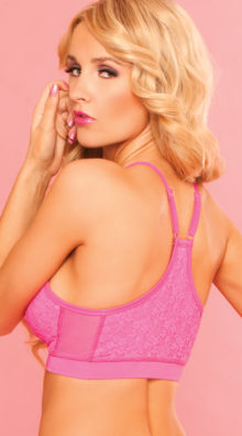 Photo of Pink Lace Sports Bra @EX4.NL Exclusive Lingerie