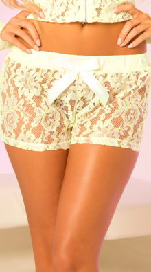 Photo of Sheer Lace Hot Shorts with Bow @EX4.NL Exclusive Lingerie