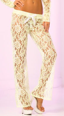 Photo of Sheer Lacey Floral Pants @EX4.NL Exclusive Lingerie
