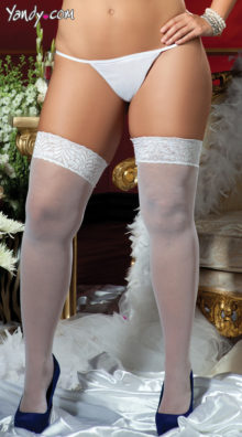 Photo of Plus Size Sheer Lace Top Thigh High Stockings @EX4.NL Exclusive Lingerie