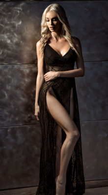 Photo of High Slits Sheer Gown @EX4.NL Exclusive Lingerie