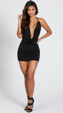 Photo of O Ring Cowl Neck Dress @EX4.NL Exclusive Lingerie