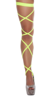 Photo of Solid Leg Strap with Attached Garter @EX4.NL Exclusive Lingerie