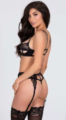 Photo of Open Cup Cage Bra Set @EX4.NL Exclusive Lingerie