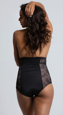 Photo of Black Fit with Lace High Waisted Brief @EX4.NL Exclusive Lingerie