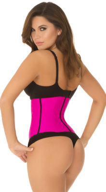 Photo of Hot Pink Strapless Contour Waist Trainer @EX4.NL Exclusive Lingerie