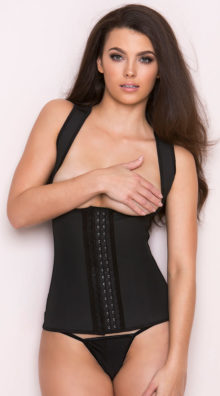 Photo of Black Thick Strapped Contour Waist Trainer @EX4.NL Exclusive Lingerie