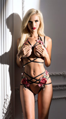 Photo of Caged Rose Bra Set @EX4.NL Exclusive Lingerie