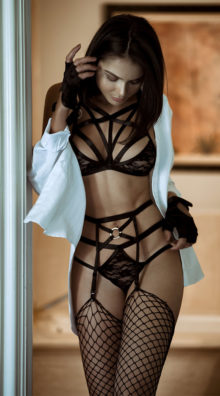 Photo of Submissive Strappy Lace Bralette Set @EX4.NL Exclusive Lingerie