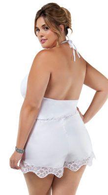 Photo of Plus Size Charming White Romper @EX4.NL Exclusive Lingerie