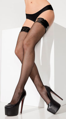 Photo of Vinyl Top Fishnet Thigh Highs @EX4.NL Exclusive Lingerie