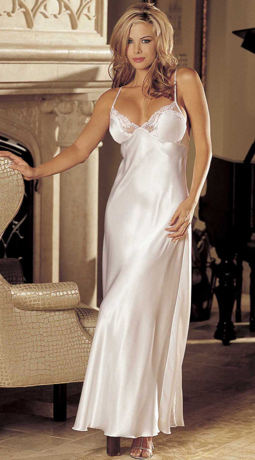 Photo of Satin And Lace Long Gown @EX4.NL Exclusive Lingerie
